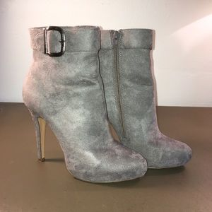 Grey Suede Ankle Boots by Michael Antonio